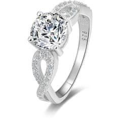 Beneto Srebrny błyszczący pierścień AGG204 (obwód 50 mm) srebro 925/1000