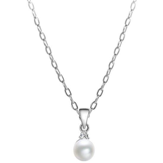 Beneto Ezüst nyaklánc igazgyönggyel AGS906/45 ( lánc, medál ) ezüst 925/1000
