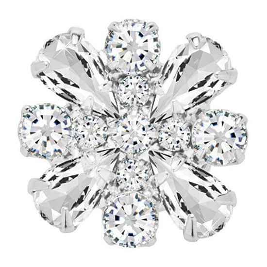 Preciosa Magnetna broška s prozornimi kristali Freesia 2268 00