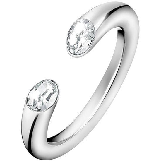 Calvin Klein Otvorený prsteň s kryštálmi Brilliant KJ8YMR0405
