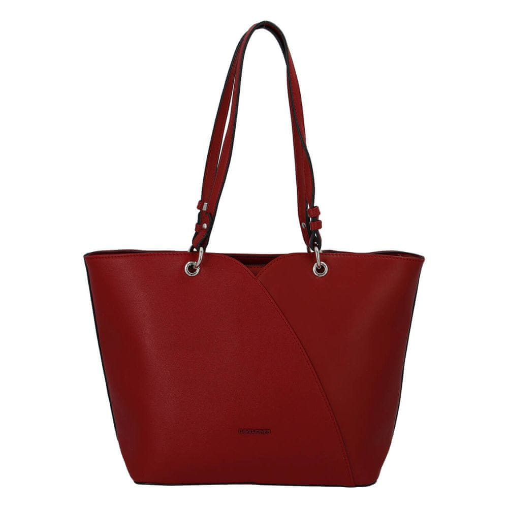 David Jones Dámska luxusná kabelka Lauren, červená