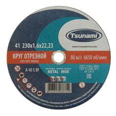 Tsunami Kovové řez kruh a 40 r / s bf l 230 x 22 x 1,6 mm