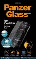 PanzerGlass Privacy zaščitno steklo za iPhone 12/12Pro, kaljeno, črno