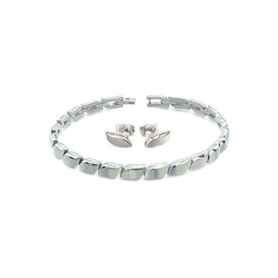 Boccia Titanium Komplet luksuznega nakita iz titana s popustom (uhani, zapestnica)
