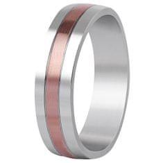 Beneto Bicolor esküvői gyűrű acélból SPP10 (Kerület 68 mm)