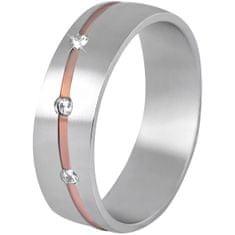 Beneto Ženski dvodelni poročni prstan iz jekla SPD07 (Obseg 50 mm)