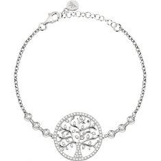 Morellato Srebrny bransoletkaz kryształkami Drzewo życia Albero Della Vita SATB08