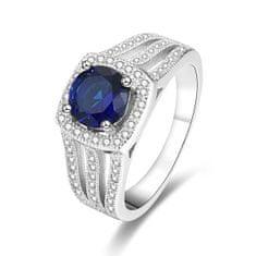 Beneto Stříbrný prsten s modrým krystalem AGG326 (Obvod 52 mm) stříbro 925/1000