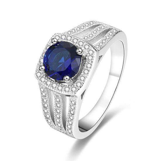 Beneto Srebrny pierścionek z niebieskim kryształem AGG326 srebro 925/1000