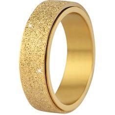 Troli Jekleni poročni prstan zlato / svetleč (Obseg 59 mm)