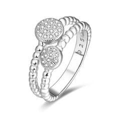 Beneto Stříbrný prsten se zirkony AGG335 (Obvod 50 mm) stříbro 925/1000