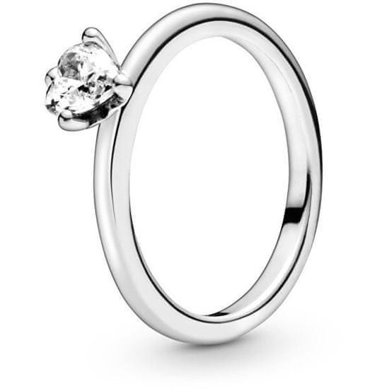 Pandora Stříbrný prsten se srdíčkem 198691C01 stříbro 925/1000