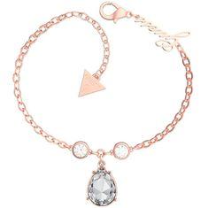 Guess Roza pozlačena zapestnica s kristali UBB29094-S