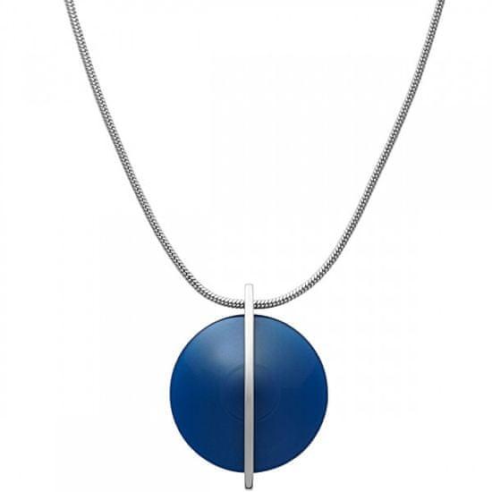 Skagen Stalowy naszyjnik z niebieskim szkłem SKJ1296040