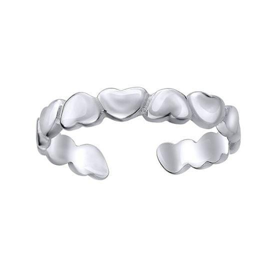 Silvego Srebrn srčni prstan na nogi ZTD5255 srebro 925/1000