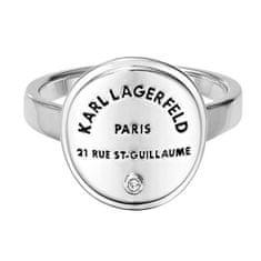 Karl Lagerfeld Stylový prsten s výrazným logem 554530 (Obvod 58 mm)