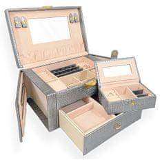 Jan KOS Veličastna srebrna škatla za nakit SP-950 / AG