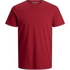 Jack&Jones JJEORGANIC BASIC TEE moška majica 12156101 Rio Red SLIM (Velikost S)
