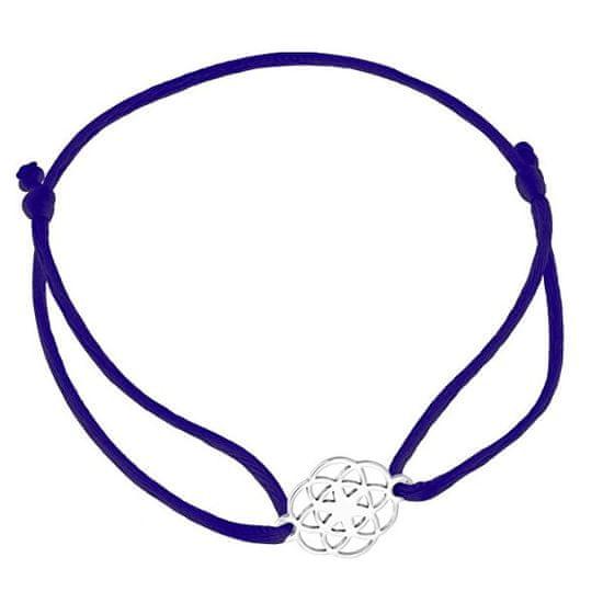 Praqia Zsinór kék kabala karkötő Mandala KA6203