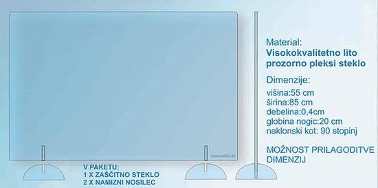 Pleksi Protection Pleksi zaščita š 85 cm x v 55cm