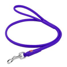Wau Dog Kulaté kožené vodítko fialové barvy 122cm