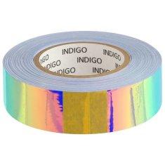 Kraftika Páska na obruče s podšívkou mirror rainbow 20 mm × 14 m