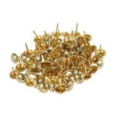 Kraftika Dekorativní hřebíky 11x17 mm, barva starožitné zlato 076