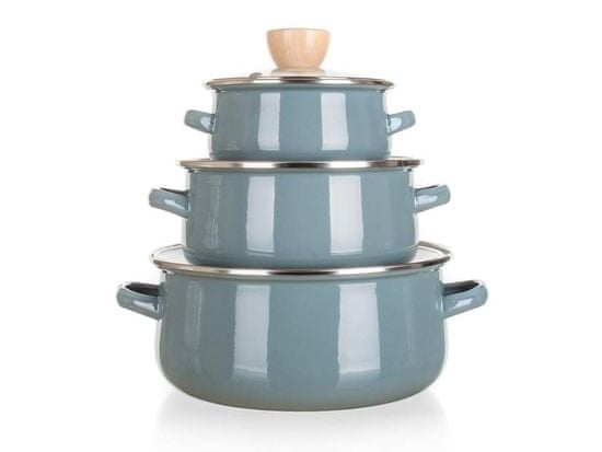 Banquet Súprava smaltovaného riadu NATURAL Olive, 6 ks