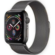 4wrist Ocelový milánský tah pro Apple Watch - Grafitový 38/40 mm