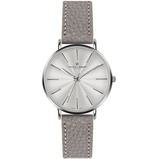 Frederic Graff Silver Monte Rosa Lychee grey Leather FAL-B015S