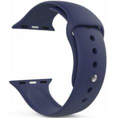 4wrist Silikonový řemínek pro Apple Watch - Tmavě modrý 42/44 mm - M/L