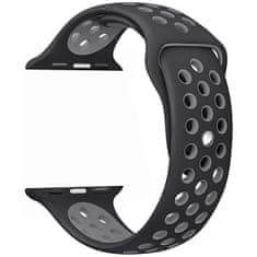 4wrist Silikonový řemínek pro Apple Watch - Černá/Šedá 38/40 mm