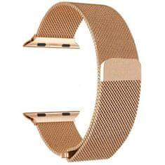 4wrist Ocelový milánský tah pro Apple Watch - Růžové zlato 42/44 mm