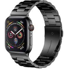 4wrist Ocelový tah pro Apple Watch - Černý 42/44 mm