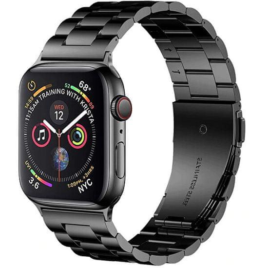 4wrist Ocelový tah pro Apple Watch - Černý 38/40 mm