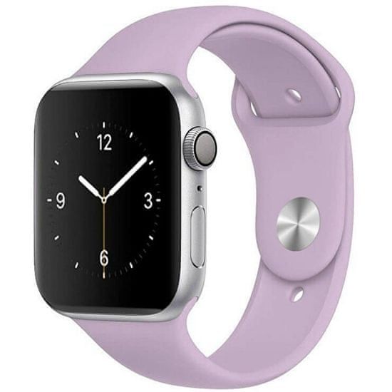 4wrist Szilikon szíj Apple Watch - Világos lila 42/44 mm - S/M