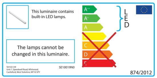 Sensio Axis podelementna linijska luč, 222 mm, naravno bela