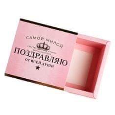 "Kraftika 10 ks, krabička na sladkosti ""gratulujeme"", 13 × 13 × 5 cm"