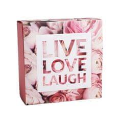 "Kraftika 10 ks, krabička na sladkosti ""live love laugh"""