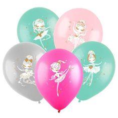 """Fun Balónkový latex 12 """""""" baleríny """", pastelový, oboustranný."""