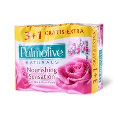 Palmolive Naturals Milk&Rose toaletno milo, 90g, 3+1
