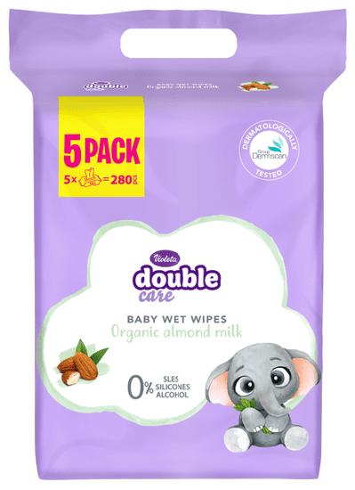 Violeta Sensitive Care robčki, z mandljevim mlekom, vlažilni, 5 x 56/1