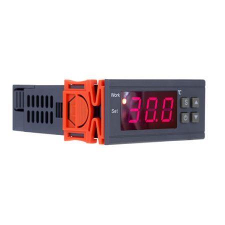 Digitální elektronický termostat se 2 relé 10 A, 220 V, externí čidlo, topení, chlazení