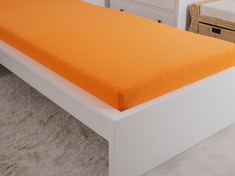 B.E.S. Petrovice Prostěradlo Jersey česaná bavlna MAKO 180x200 cm sytá oranžová