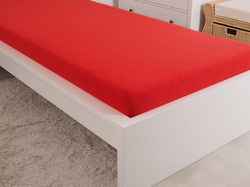 B.E.S. Petrovice Prostěradlo Jersey česaná bavlna MAKO 180x200 cm červená