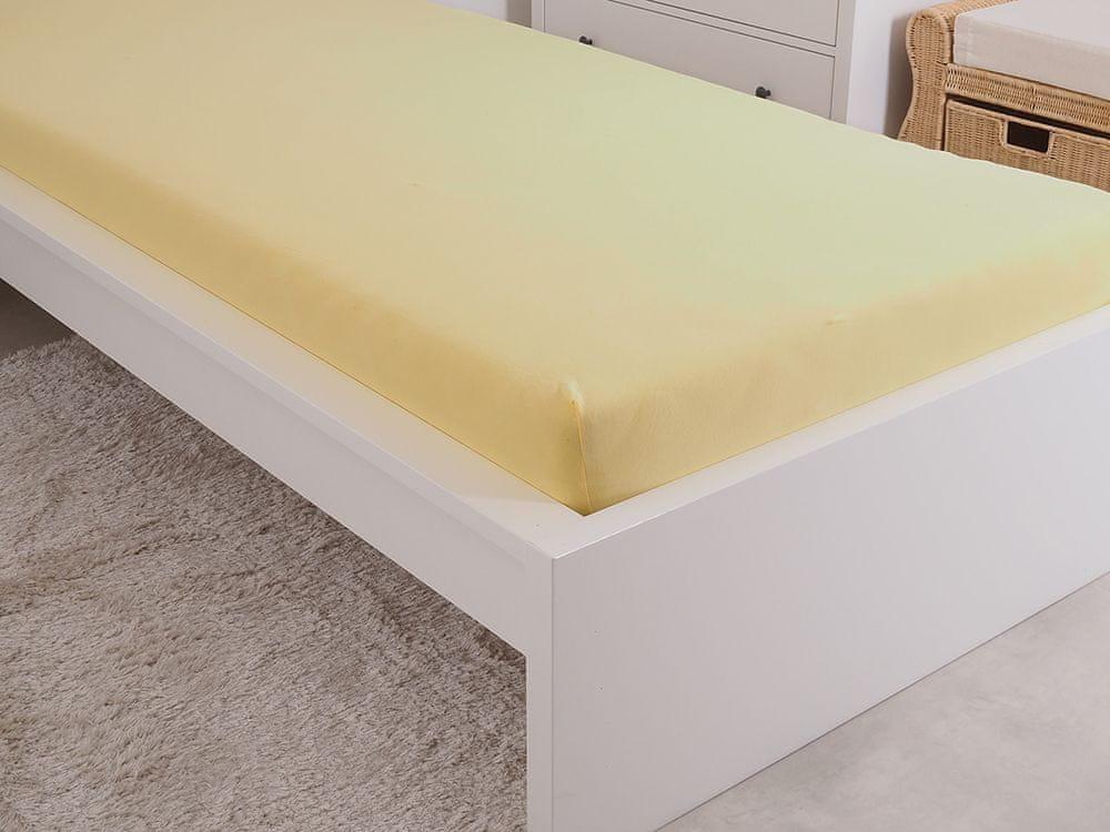 B.E.S. Petrovice Prostěradlo Jersey česaná bavlna MAKO 180x200 cm žlutá