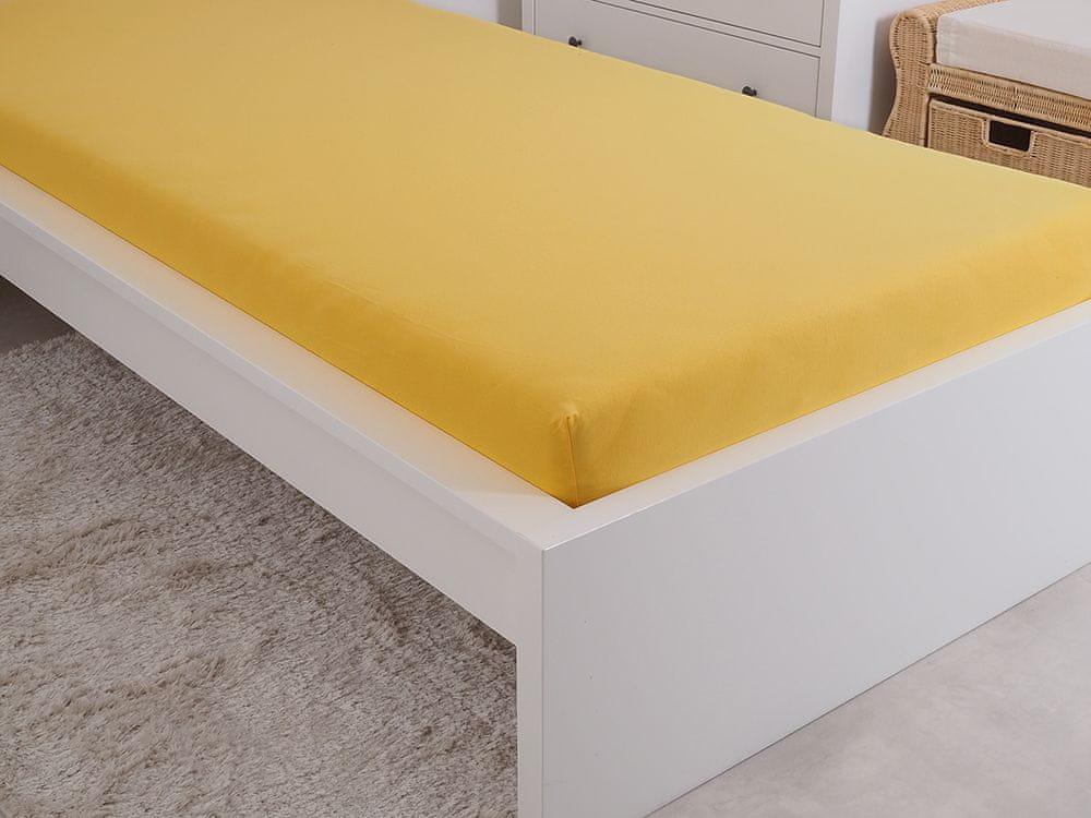 B.E.S. Petrovice Prostěradlo Jersey česaná bavlna MAKO 180x200 cm sytá žlutá