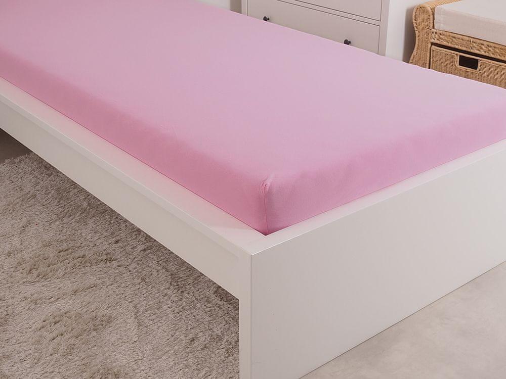 B.E.S. Petrovice Prostěradlo Jersey česaná bavlna MAKO 180x200 cm růžová