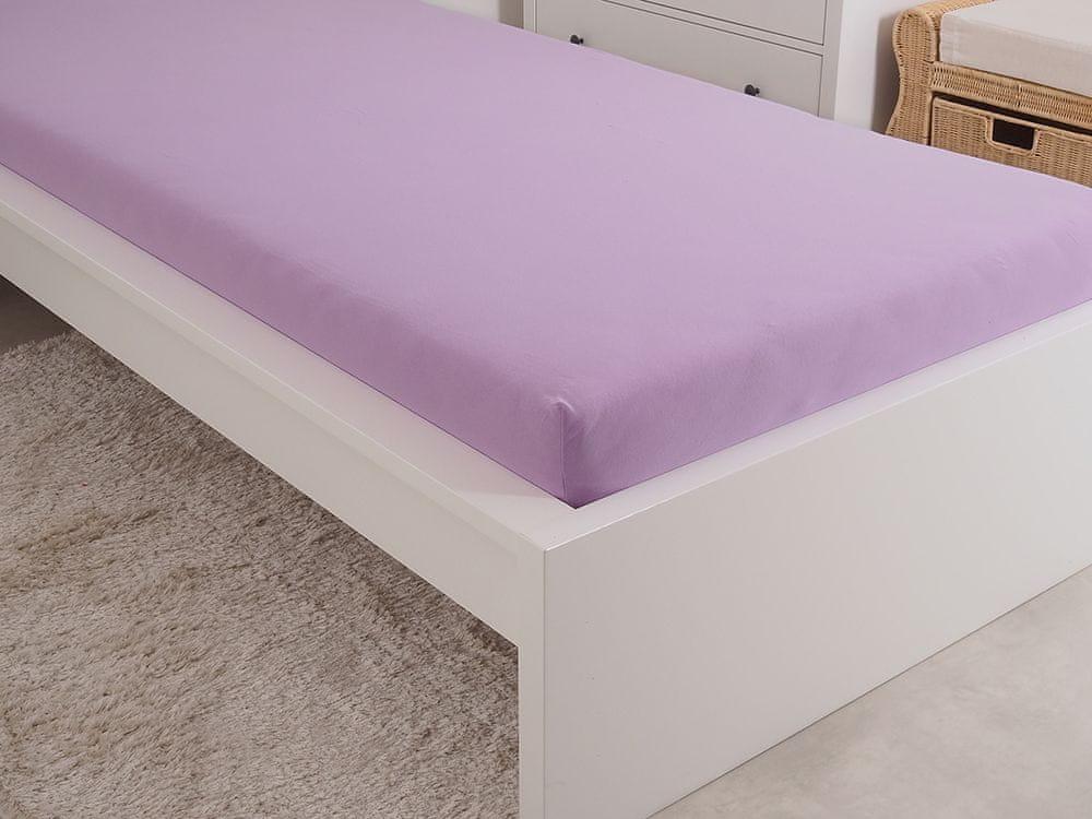 B.E.S. Petrovice Prostěradlo Jersey česaná bavlna MAKO 180x200 cm fialová
