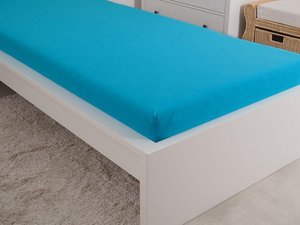 B.E.S. Petrovice Prostěradlo Jersey česaná bavlna MAKO 180x200 cm modrý tyrkys